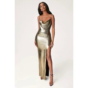 NWT Meshki Kaila Gown - Maxi Dress in Gold